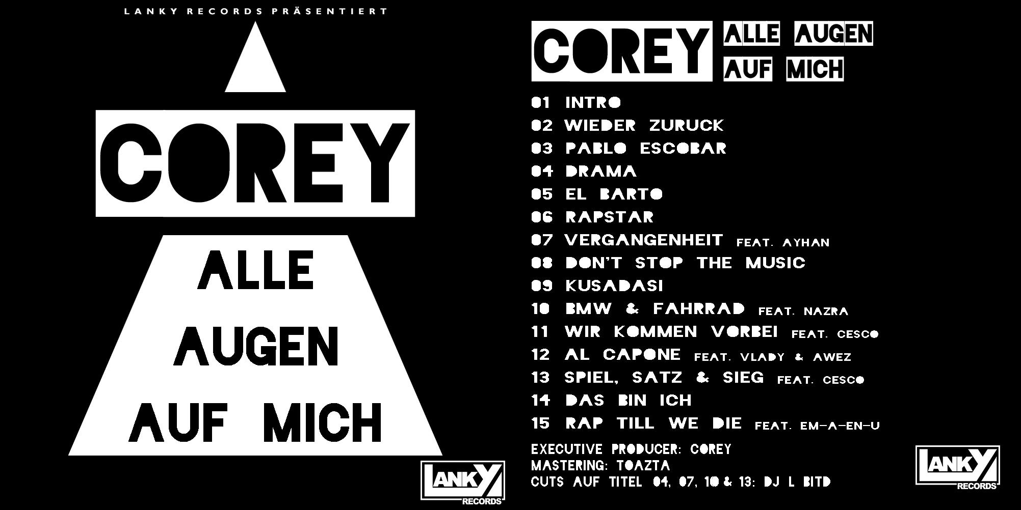 Corey - Alle Augen auf mich Cover